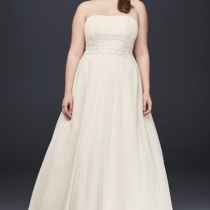 David's Bridal Empire Waist wedding dress